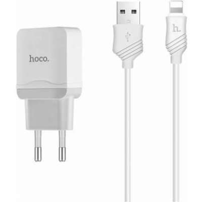 СЗУ с USB выходом Hoco C22A Little Superior для IPHONE (белое)