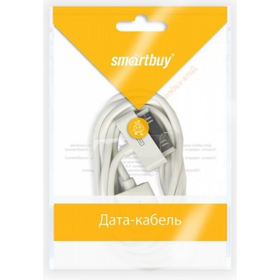 USB кабель Smartbuy для IPhone 4/4S, USB 2.0 - 30-pin, 1.2 м (белый)