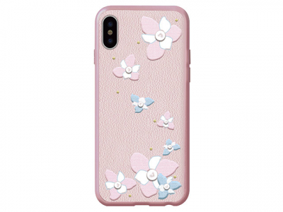 Кожаный чехол Devia iPhone X Flower Embroidery Lanya