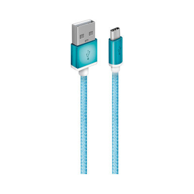 Usb кабель Oxion OX-DCC029BL USB 2,0 (M) - Type-C (M), 1,5 м, на скрутке (синий)