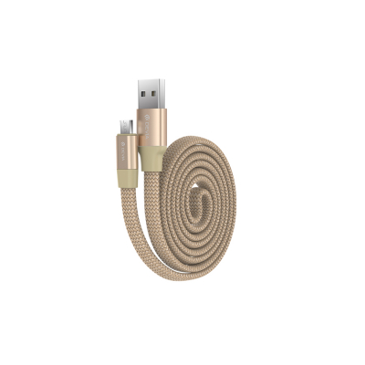 USB кабель Devia Ring Y1 Flexible for Micro (золотой)