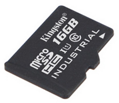 Карта памяти MicroSD 16GB Kingston Class 10 UHS-I Industrial Temp без адаптера