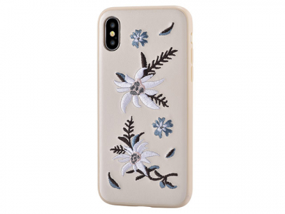 Кожаный чехол Devia iPhone X Flower Embroidery Jalam