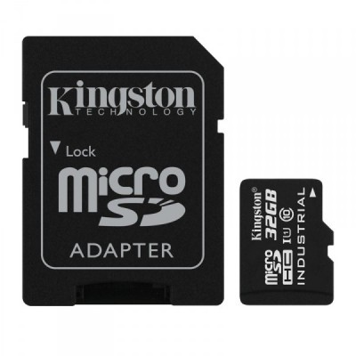 Карта памяти MicroSD 32GB Kingston Class 10 UHS-I Industrial Temp + SD адаптер
