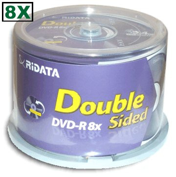 Диск DVD+R 9,4 GB 8x (Data Standard) Double Side blank Bulk 50